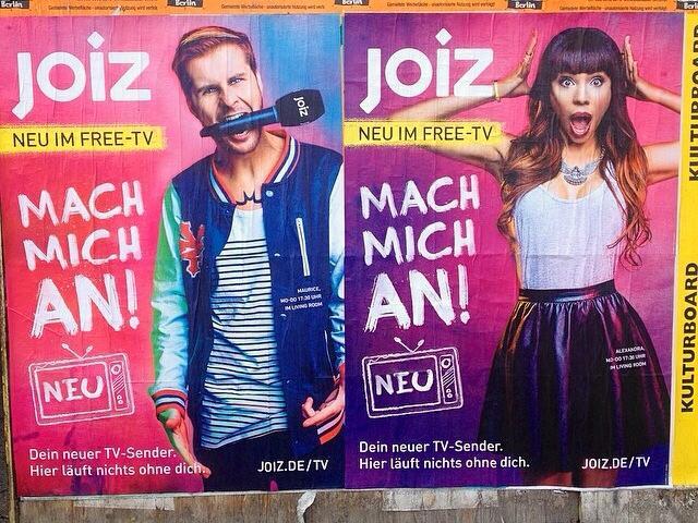 joiz Germany Plakatserie ©Foto: C. Chytrek