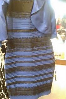 Kleid schwarz/blau oder weiß/gold